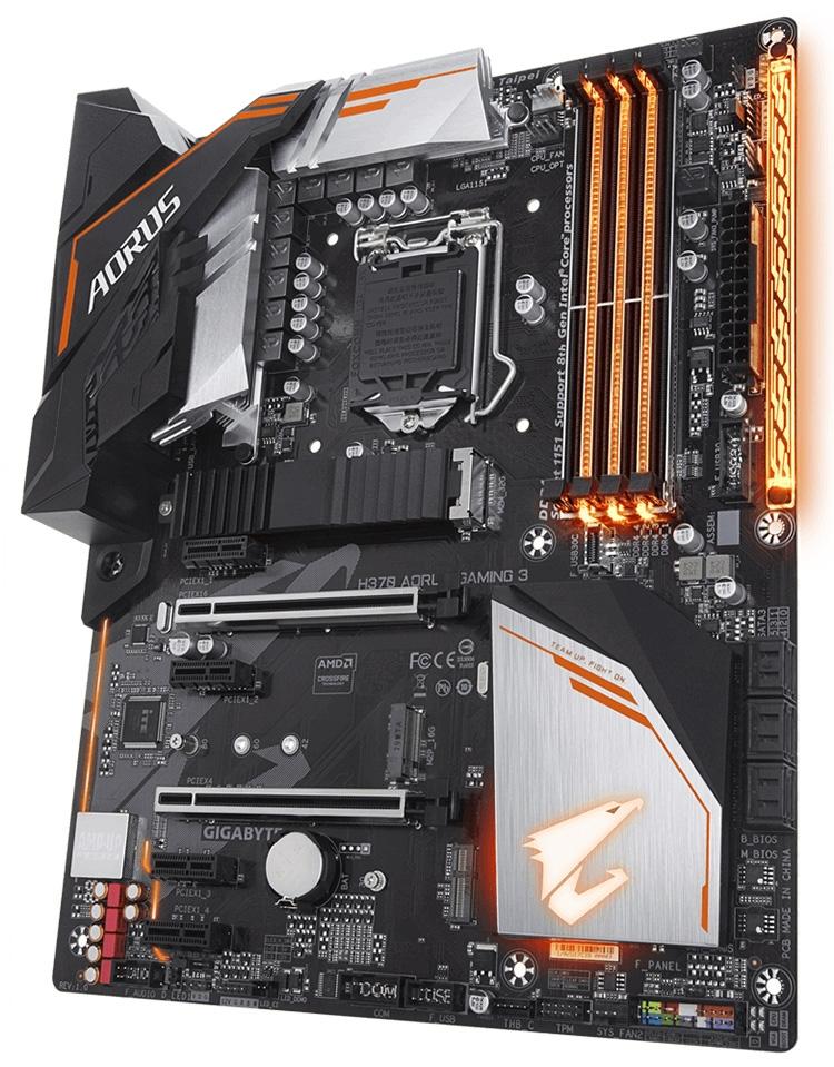 Gigabyte выпустила яркую плату H370 Aorus Gaming 3