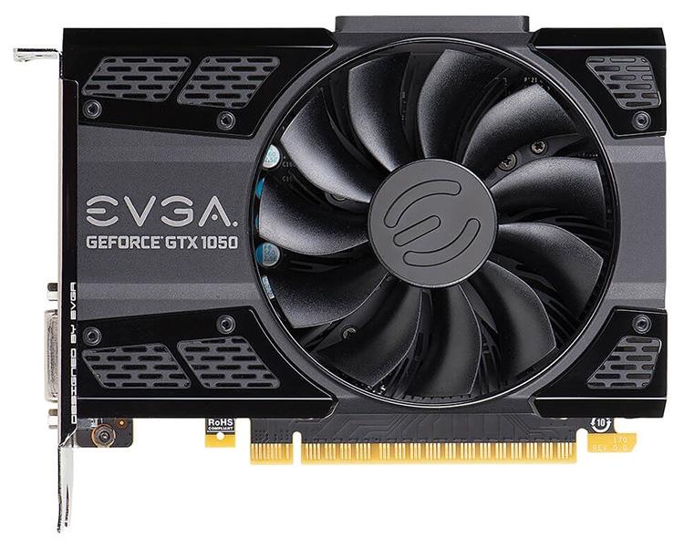 EVGA предлагает две модели GeForce GTX 1050 с объёмом памяти 3 Гбайт
