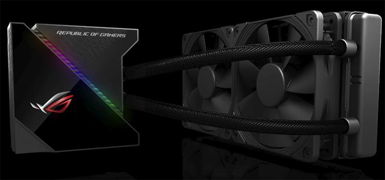 Computex 2018: ASUS оснастила жидкостные CPU-кулеры мини-дисплеем и подсветкой