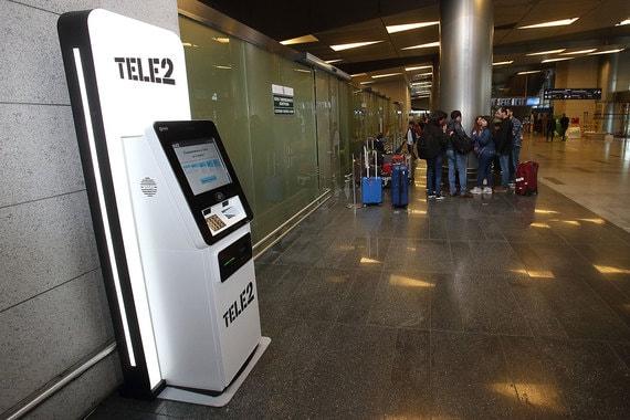 Во «Внуково» появился первый в России симкомат Tele2 с функцией распознавания лиц