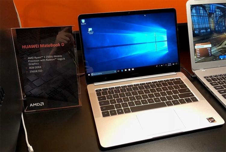 Computex 2018: новый ноутбук Huawei MateBook D получил процессор AMD Ryzen