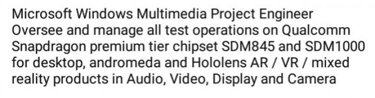 Microsoft изучает возможность применения чипа Snapdragon 1000 в самых разных устройствах