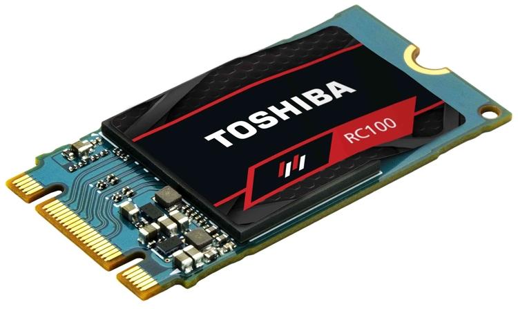 Цена накопителей Toshiba OCZ RC100 NVMe M.2 SSD начинается с 50 евро