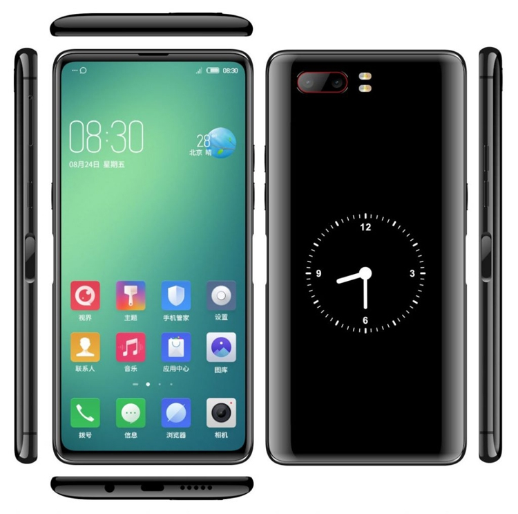 Необычный смартфон ZTE Nubia с двумя дисплеями замечен на рендерах