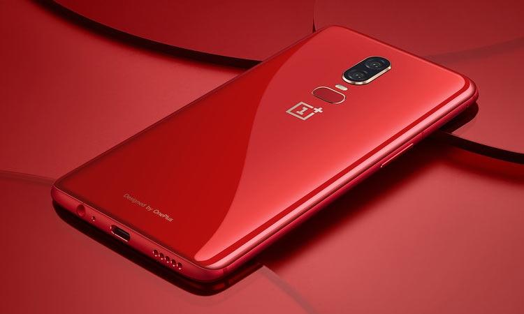 OnePlus 6 выйдет 10 июля красном исполнении