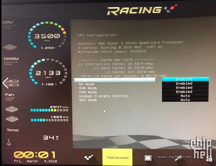 Любительские тесты Ryzen 3 2300X: 4,2 ГГц — не предел