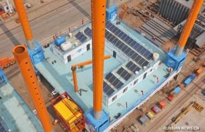 В Китае построили уникальные морские платформы