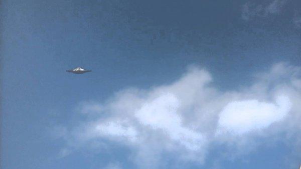 Серый НЛО следил за запуском ракеты Falcon 9