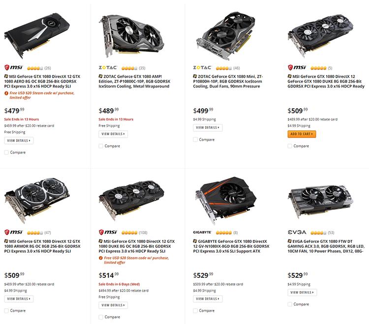Рынок видеокарт: цены располагают к апгрейду