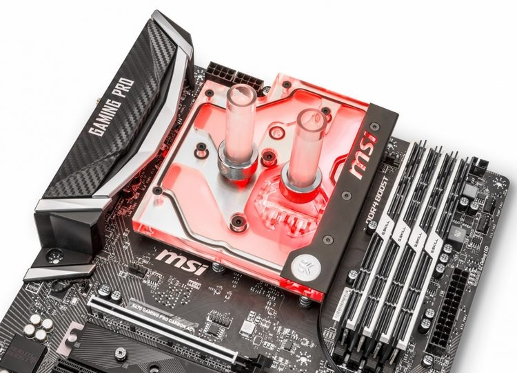 EK Water Blocks представила водоблок для материнской платы MSI X470 Gaming Pro Carbon