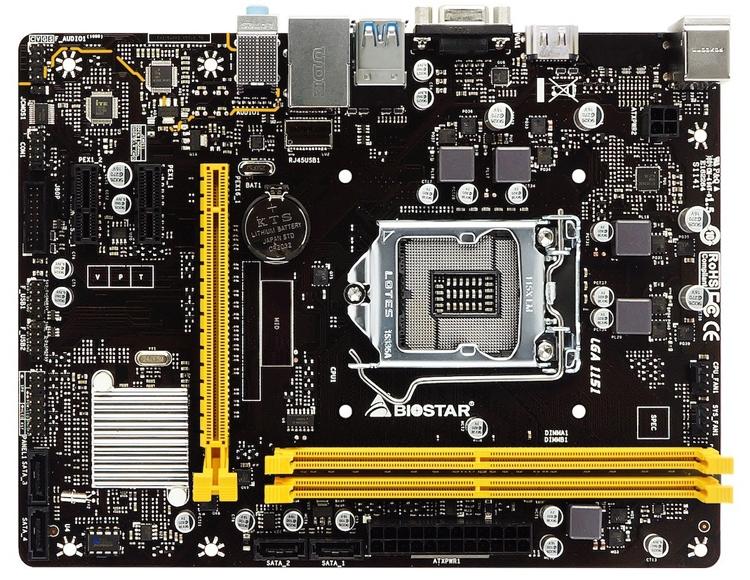 Biostar H310MHC: плата начального уровня для процессоров Intel