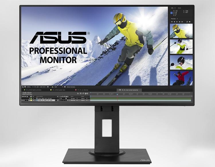 Монитор ASUS PB247Q имеет 100 % охват цветового пространства sRGB
