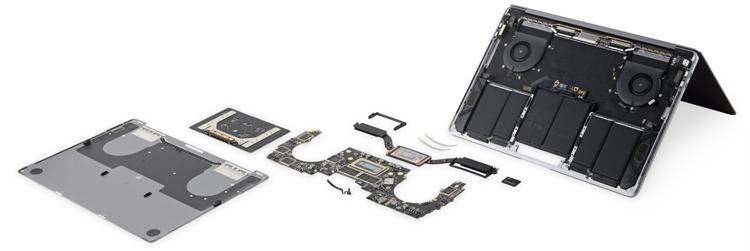 Новые ноутбуки Apple MacBook Pro признаны совершенно неремонтопригодными