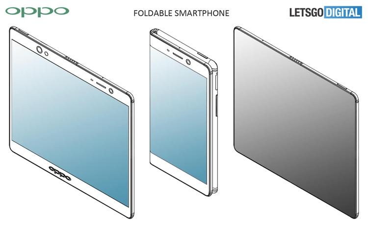 Oppo предложила различные варианты дизайна гибкого смартфона