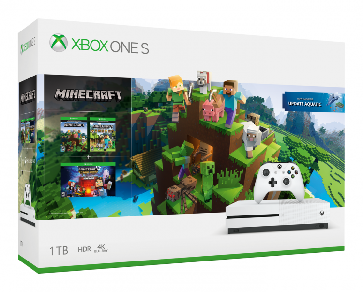 Комплекты Xbox One X PUBG и Xbox One S Minecraft появятся в продаже в России этим летом