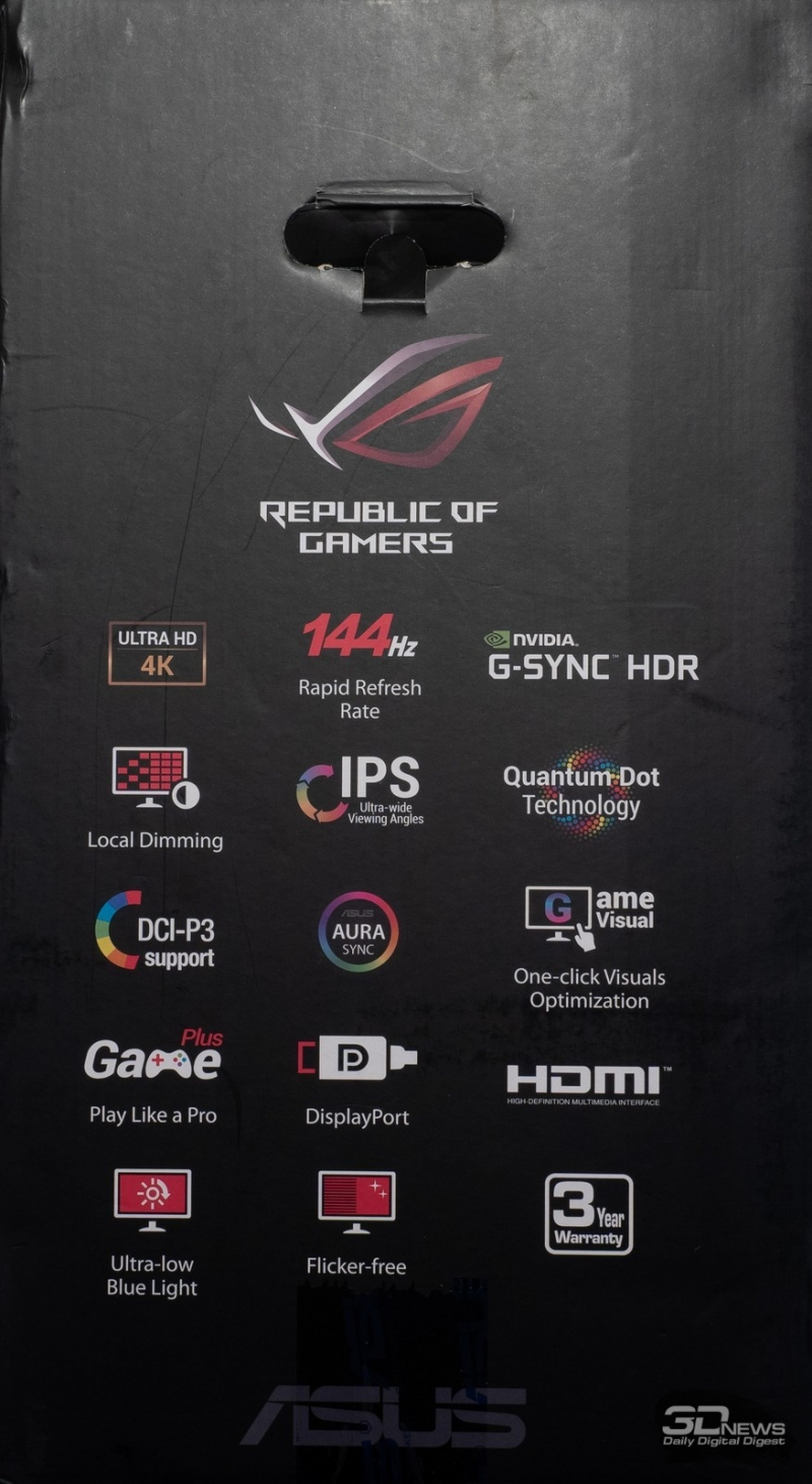 Новая статья: Обзор игрового 4К-монитора ASUS ROG Swift PG27UQ с 144 Гц и G-Sync HDR: покоритель новых вершин