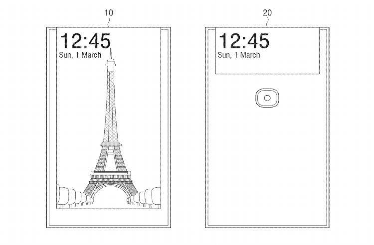 В Samsung придумали селфи-смартфон с дисплеем на обратной стороне