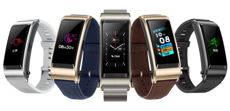 Гибридный фитнес-браслет Huawei TalkBand B5 получил датчик ЧСС