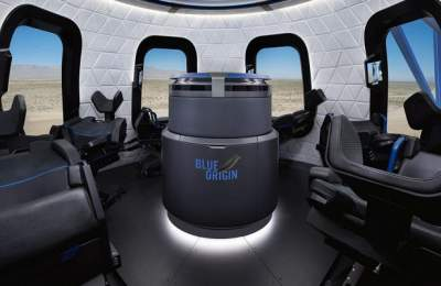 Представлен интерьер космического корабля New Shepard