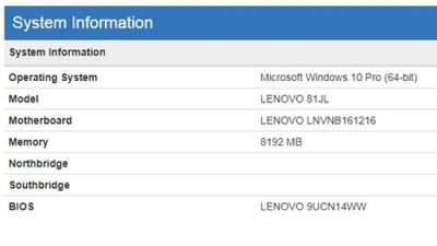 Эксперты обнаружили новое устройство Lenovo