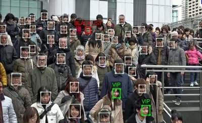 В США система распознавания лиц