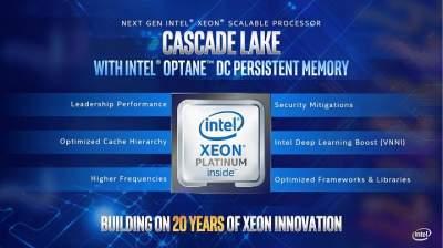 Intel работает над 48-ядерными серверными процессорами