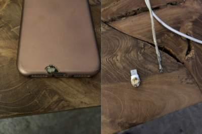 iPhone X неожиданно вспыхнул во время зарядки