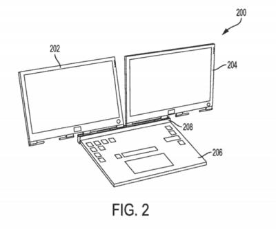 Dell выпустит ноутбук с двумя экранами