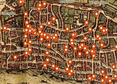 Британцы создали интерактивную карту убийств в средневековом Лондоне